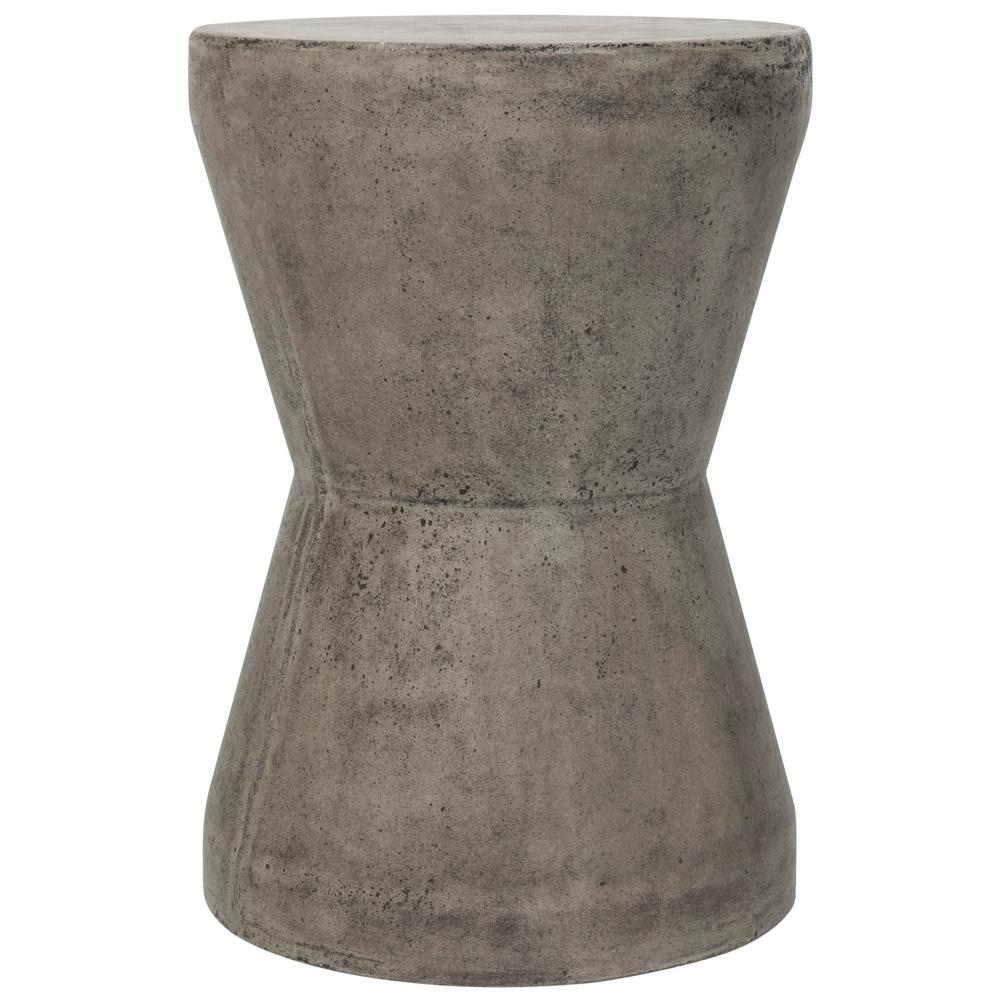gray accent tables living room furniture the safavieh outdoor side tall skinny table torre dark stone indoor contemporary chairs farmhouse and bench metal pedestal base woven