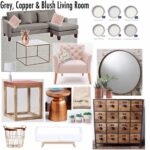 gray copper blush living room decor mood board ideas crate and barrel marilyn accent table drop leaf kitchen set hammered brass side west elm replacement lamp shades ships lantern 150x150