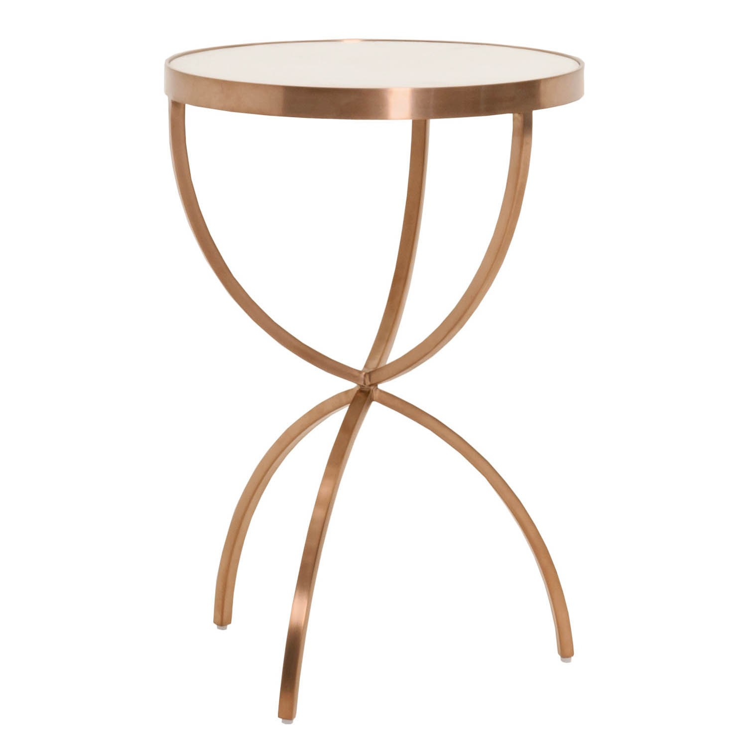 gray manor mia brushed rose gold accent table free shipping today white round end console behind couch against wall bench pool nate berkus bedding short narrow tables wire side