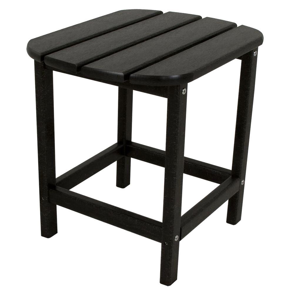 gray outdoor side tables patio the polywood spring haven umbrella accent table black white wicker furniture pier one mid century dining brown end tall brass and glass nest target