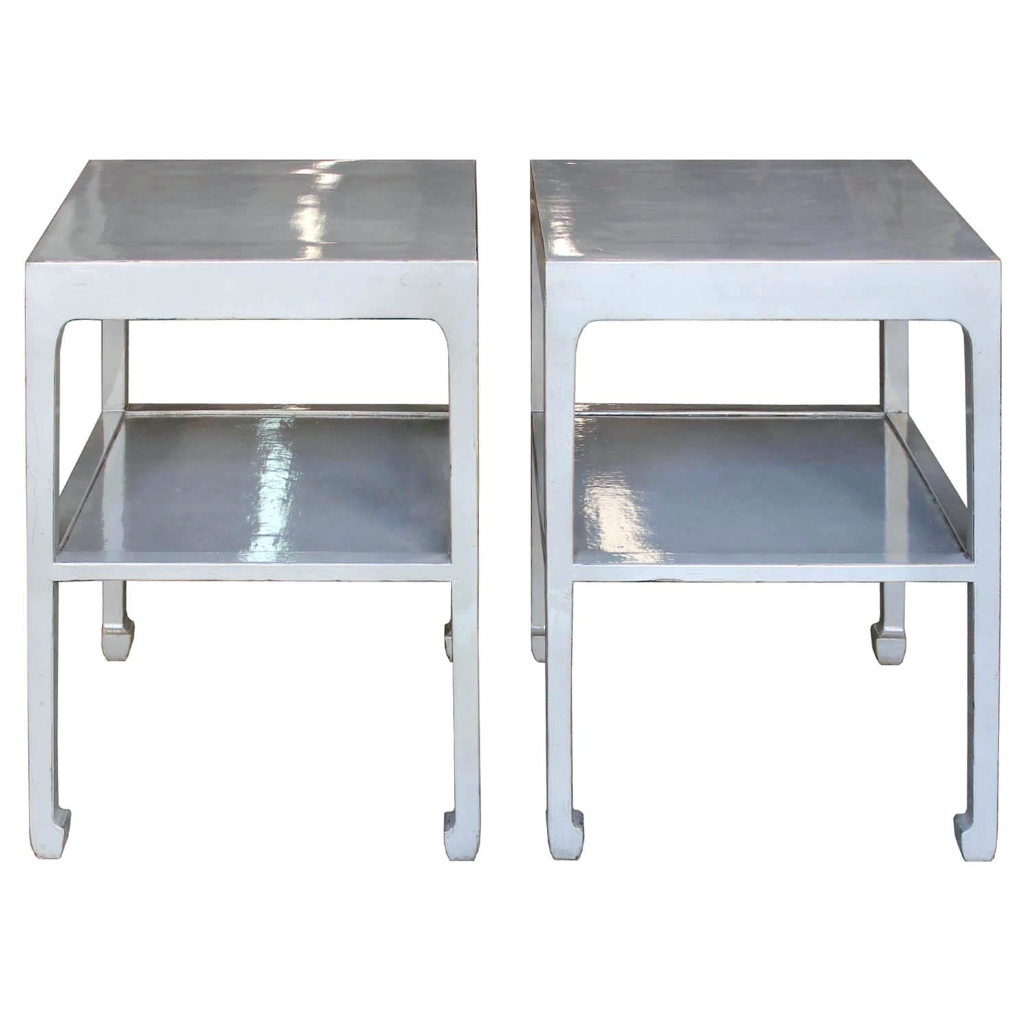 gray side table grey outdoor cybermotors two tier metal corner chests cabinets pretty storage boxes ikea breakfast bar and stools round white french coffee rose gold bedside big