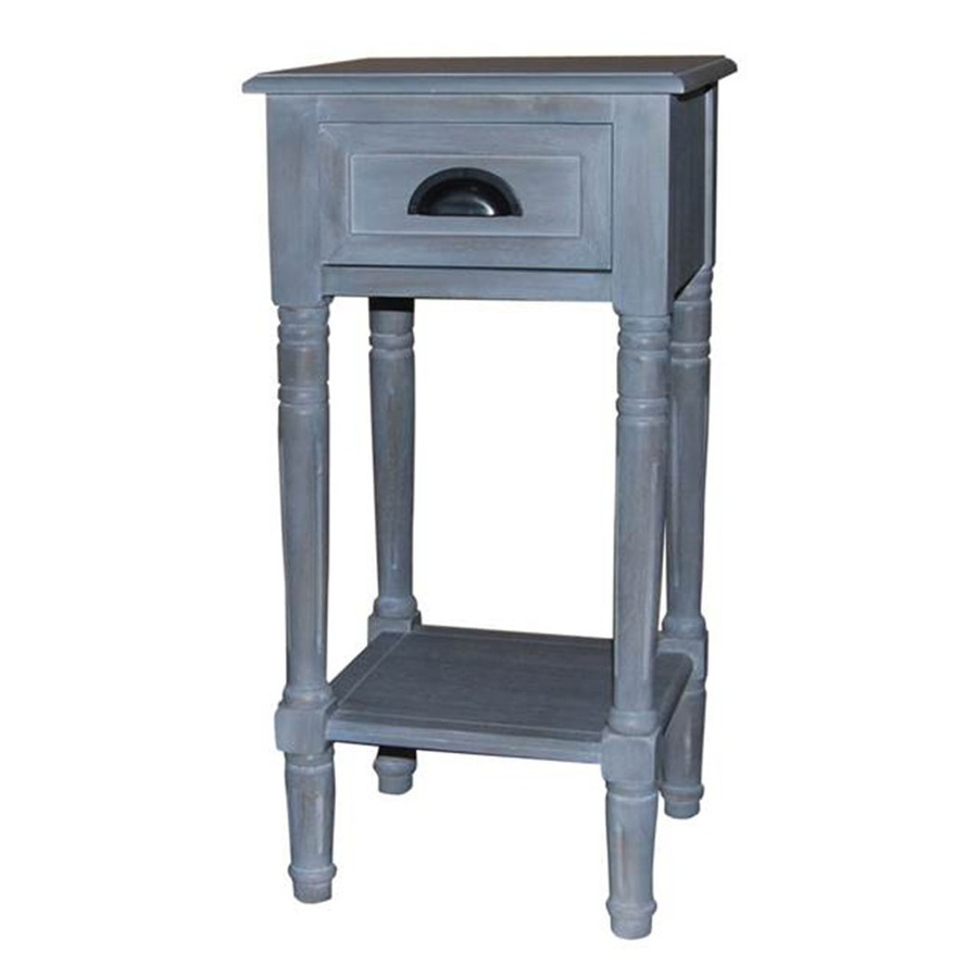 gray wash composite casual end table accent reclining living room sets mosaic garden set foyer cabinet furniture small desk chair nautical decor lamps blue and white oriental pier