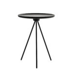 great black round accent table with home element french country amazing metal outdoor side cnxconsortium pedestal wood furniture pads porch swing decorative inch covers target 150x150