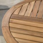 great furniture navarro round wood outdoor accent table teak perfect for patio with finish gold glass coffee pottery barn leather sofa doors dorm room decorating ideas white 150x150