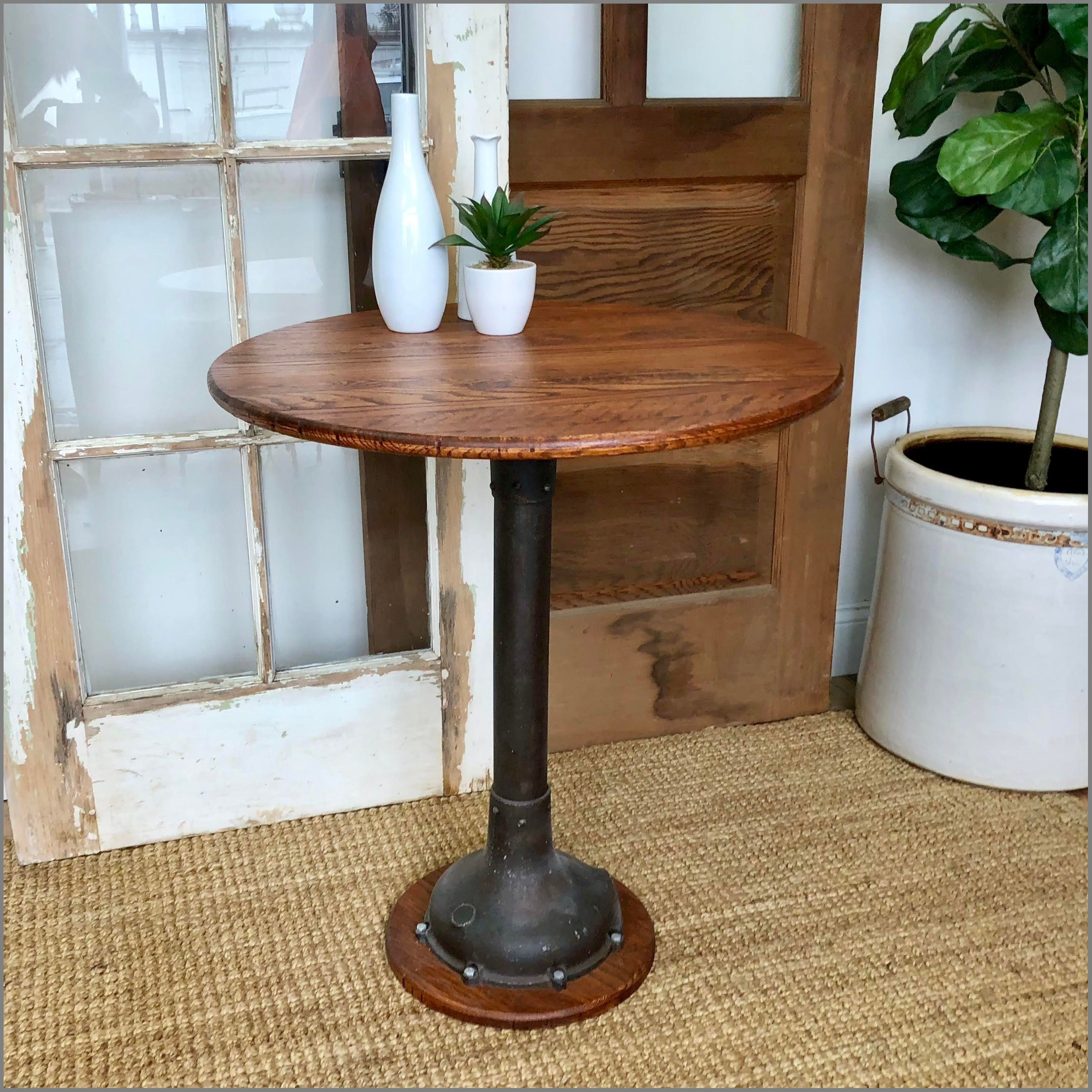 great round accent table drobasandasz wonderfull industrial bistro small vintage home decor with storage drawer outdoor and chair covers rectangular blue coffee inch square