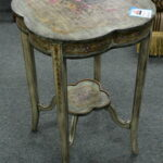 green accent table consign furniture dsc metal this attractive displays unique floral design that looks fabric unusual tables square trestle dining elegant lamps promotions 150x150