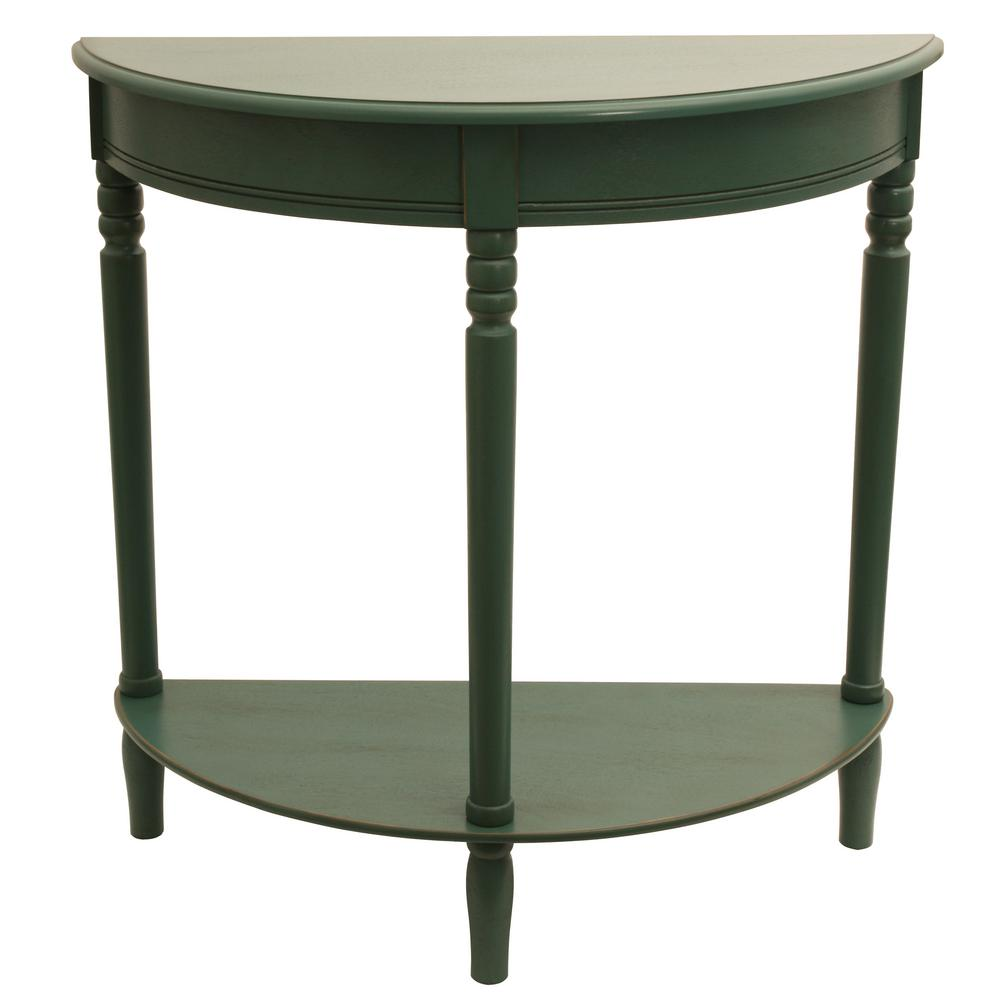 green accent tables living room furniture the antique teal decor therapy console harper round wood and metal table simplicity half rustic chairs quilted runners placemats patterns