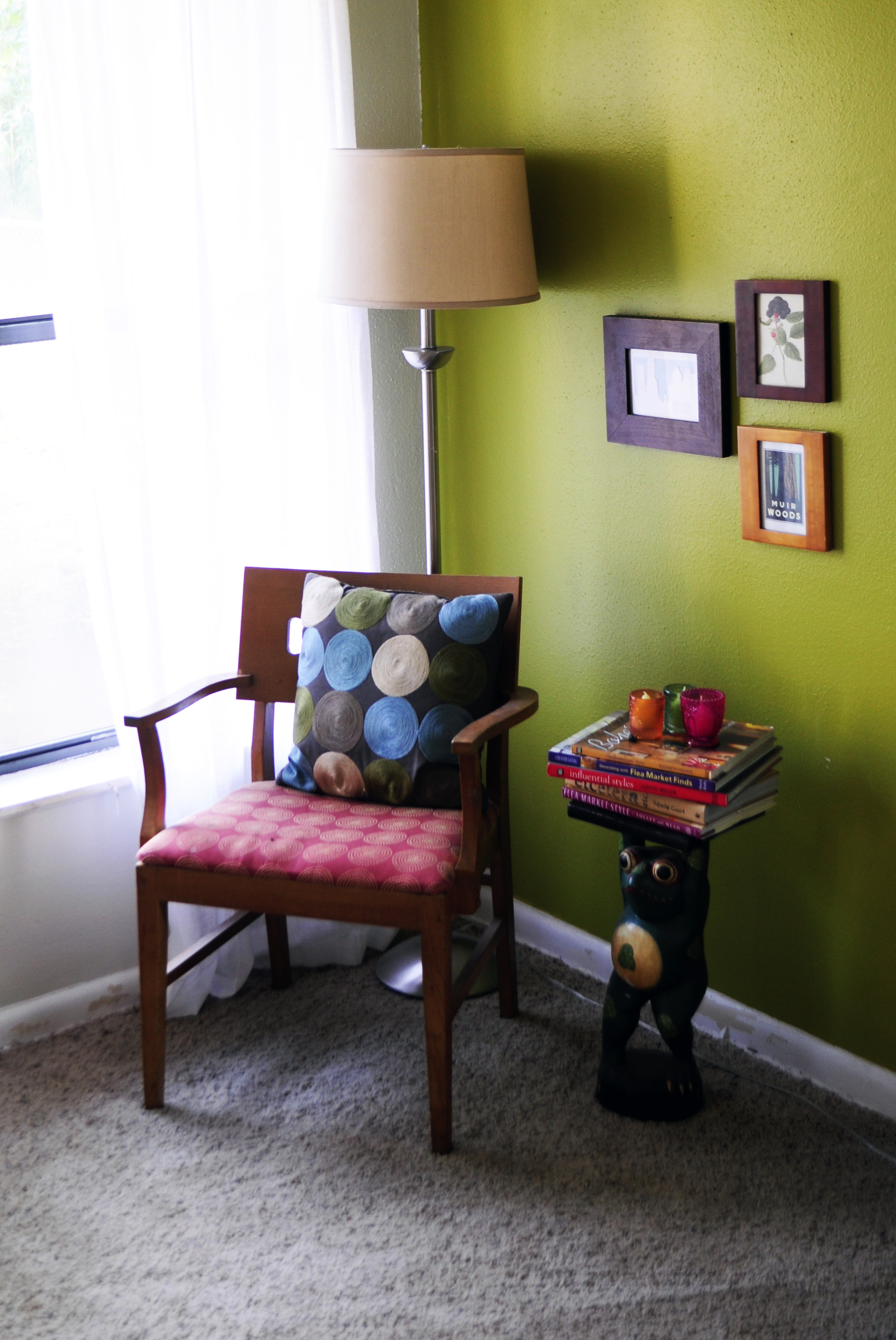 green accent wall the doodle house livingroomchair lime table best cantilever umbrella small touch lamp pottery barn metal coffee heavy duty drum throne glass nesting end tables