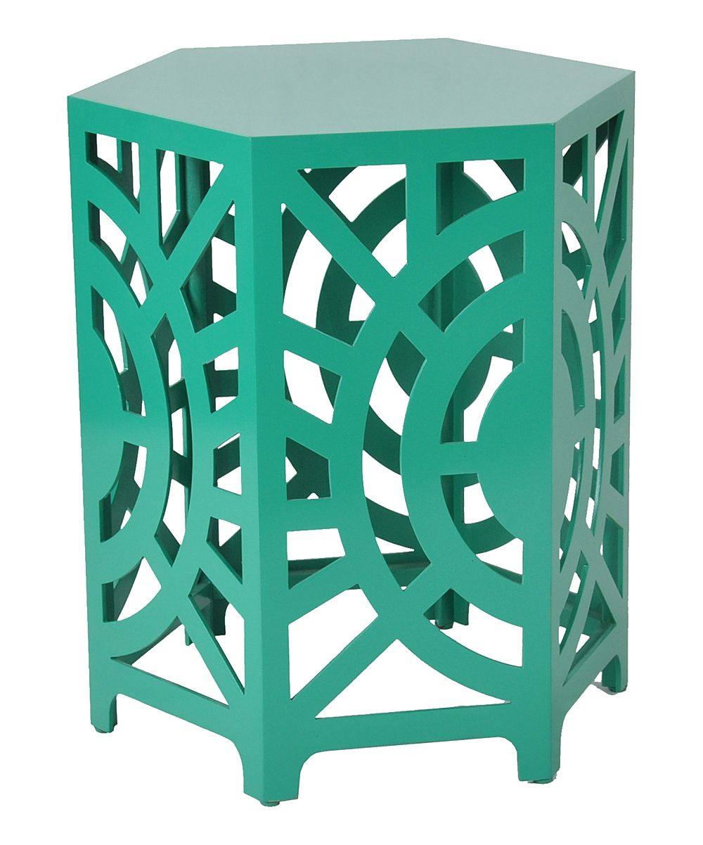 green artisan accent stool end table daily for moms babies emerald headboard with lights home goods decorative pillows cherry oak furniture inch wide nightstand corner round