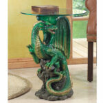 green dragon glass top accent table aewhole barn dining magnussen densbury coffee mango wood furniture owings console black outdoor side lacquer mirrored foyer small space 150x150