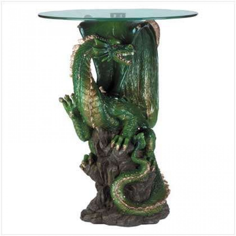 green dragon glass topped sculptural table with round top accent labe home decor fashion and jewelry gold knobs walnut bedside black drum sears patio sets sunbrella umbrella