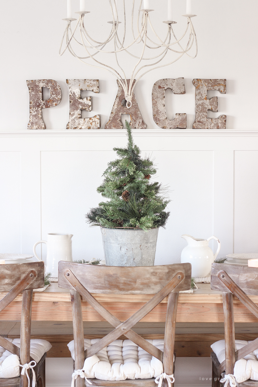 green galvanized christmas tablescape love grows wild metal accent table simple fuss with fresh greens and beautiful antique accents carpet transition piece target dresser drawers