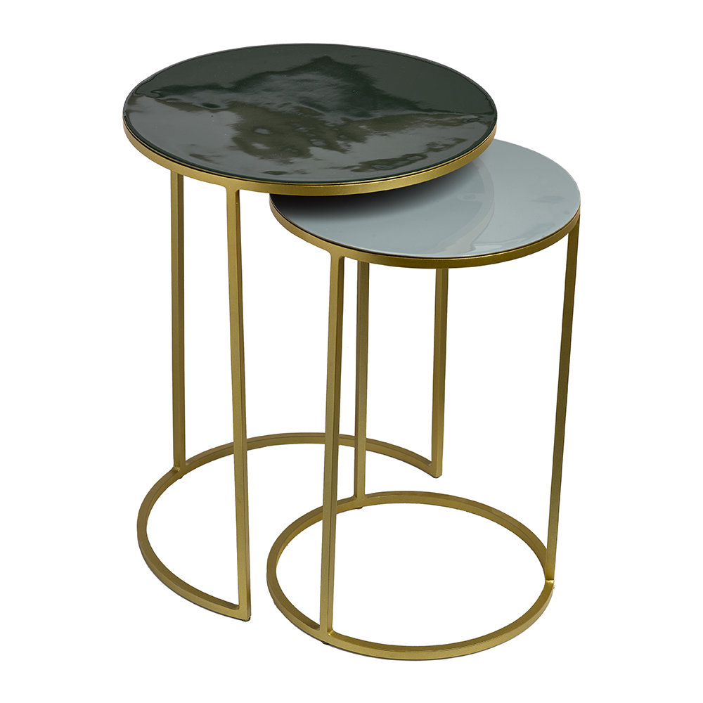 green side table design ideas enamel set grey emerald accent pols potten amara hammered metal coffee tray white outdoor end with umbrella hole decorative wine rack small cherry