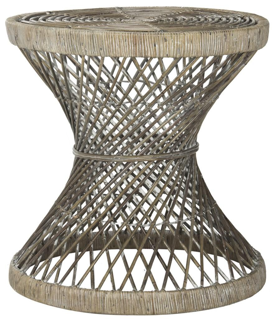 grey rattan accent table safavieh side outdoor wicker share this product and slender console brass bedside patio furniture sets with umbrella chest doors dining set contemporary