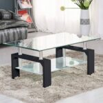 grey wood coffee table and glass small square side round black with storage tables for low accent large size console decor idea finest wicker furniture edmonton kitchen lamp 150x150