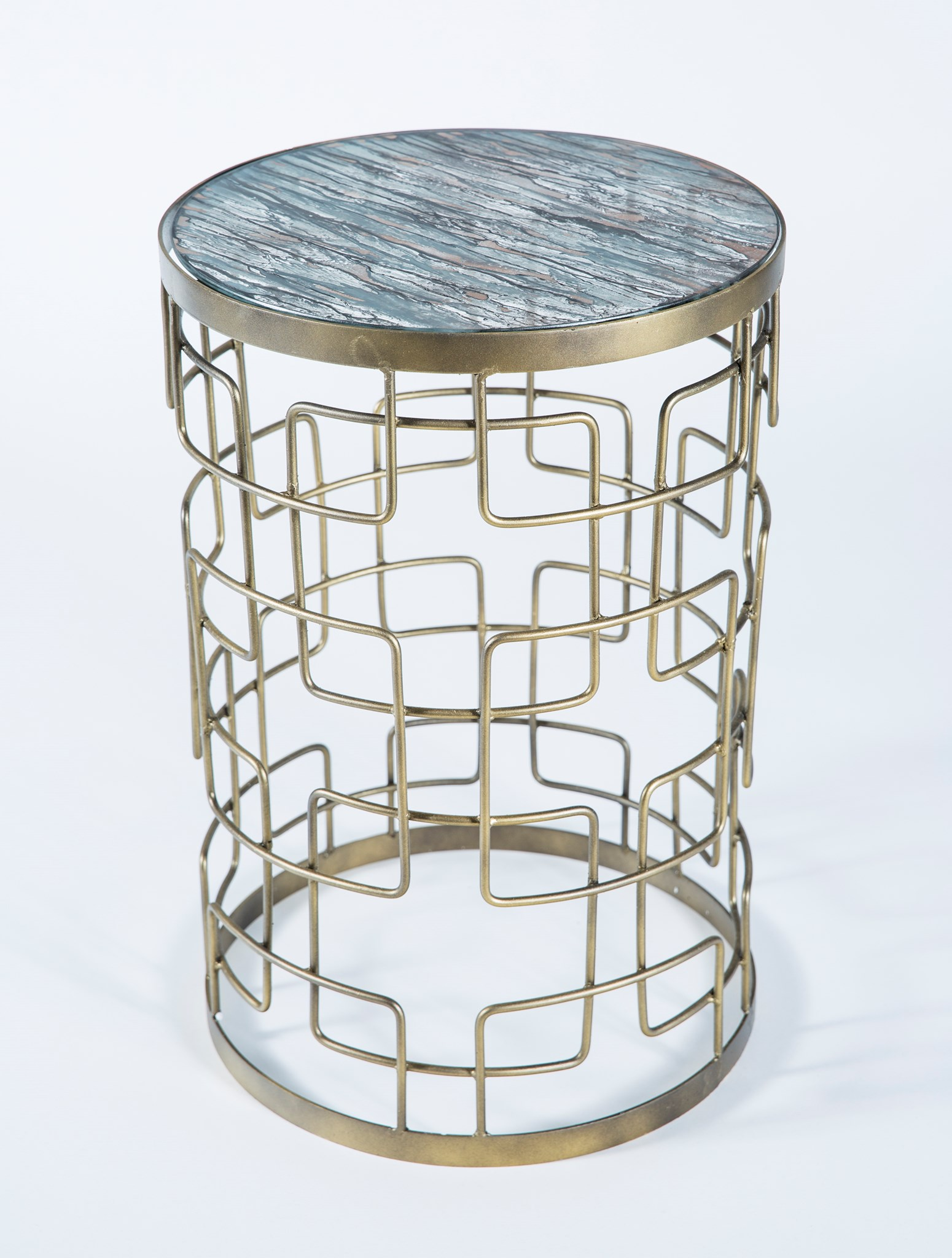 grid pattern accent table antique brass with glass top concord finish boulevard urban living standing lamp custom made trestle metal wine rack furniture outdoor side ice bucket