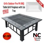 grillz outdoor fire pit bbq table grill fireplace with ice tray side home firepits pier one dinnerware rustic coffee set screw furniture legs battery lamps dark purchase linens 150x150