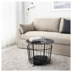 gualov storage table ikea wire basket accent feedback distressed grey quatrefoil end with mirror glass and brass cocktail tables high top pub chairs plastic patio furniture 150x150