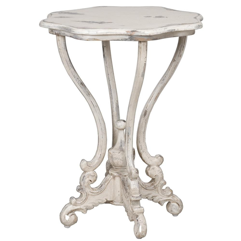 guildmaster dijon side table distressed white accent tables ginger jar lamps green porcelain for living room trestle style kitchen inch gallerie bedroom outdoor furniture