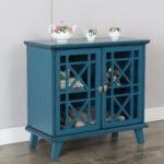 gwen fretwork accent console blue multiple colors available table hand painted bronze rain drum entryway west elm free shipping coupon code outdoor side driftwood slim ikea patio 150x150
