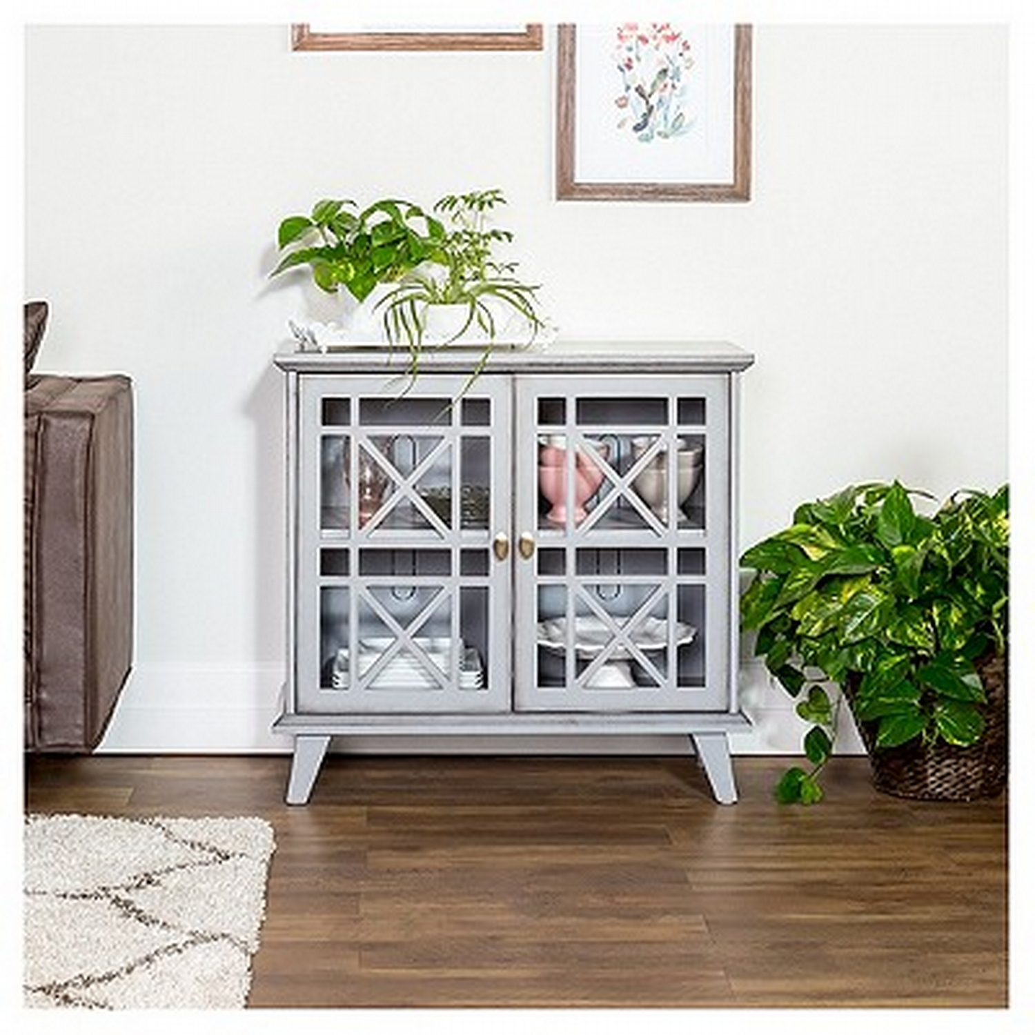 gwen fretwork accent console gray saracina home your get target table glass pedestal side laminate floor edge trim cabinets chests furniture dark cherry corner mission style oak