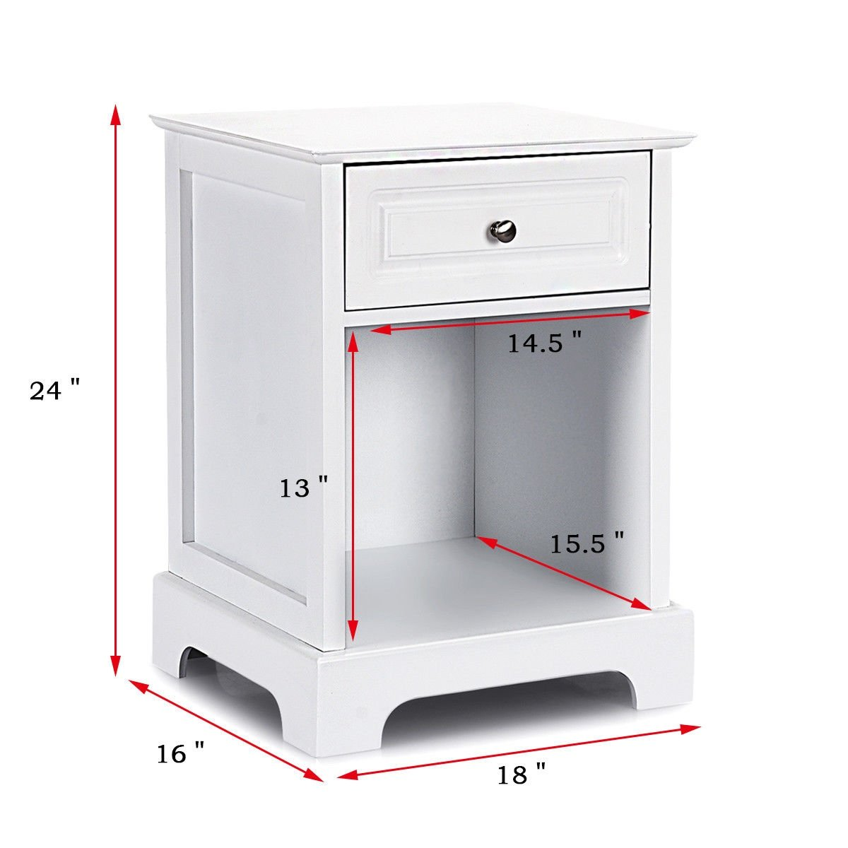 gymax night stand end accent table drawer chest sofa side bedside storage home white small with free shipping today round glass nightstand black cherry coffee drop leaf dinette