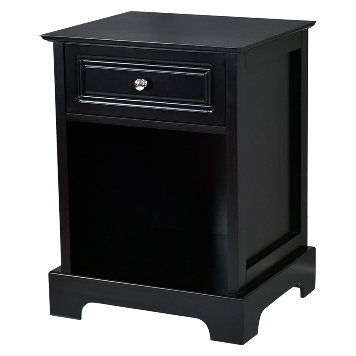 gymax pcs night stand end accent table drawer chest sofa side bedside storage black with free shipping today grey round coffee narrow dining for small spaces white pedestal silver