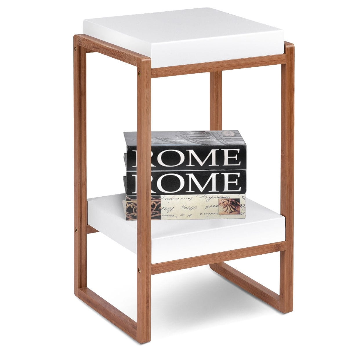 gymax side end table accent storage night stand display shelf white with drawer and free shipping orders over tool retro furniture designers rose gold placemats ikea kitchen boxes