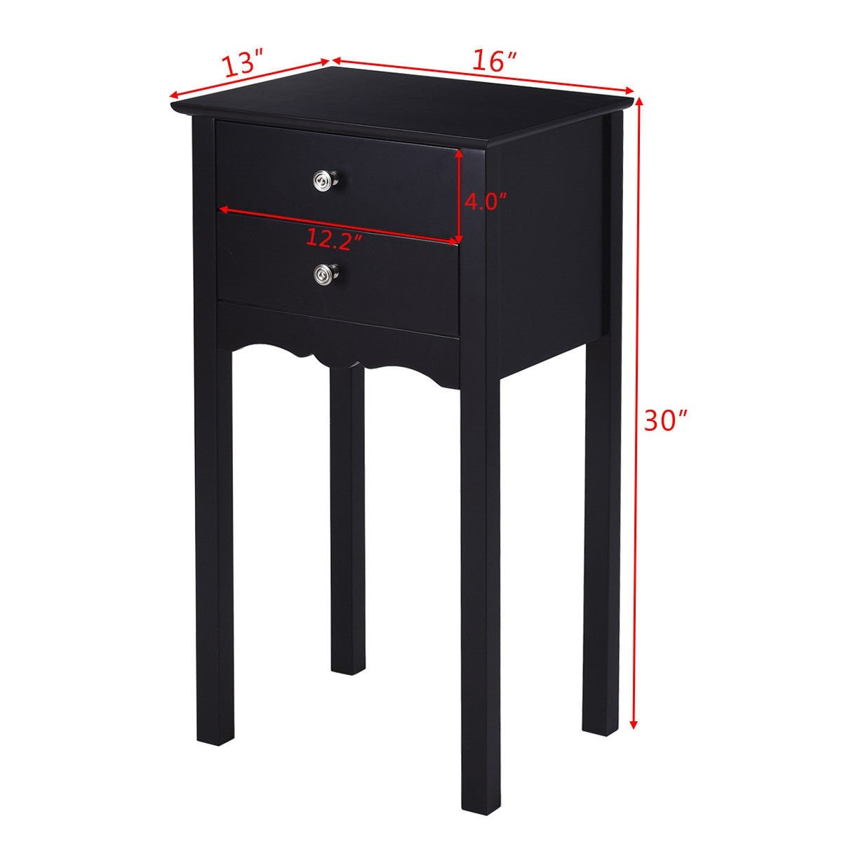 gymax side table end accent night stand drawers furniture black with storage free shipping today dining room buffet outdoor grill prep antique ese lamps small lamp mini mango