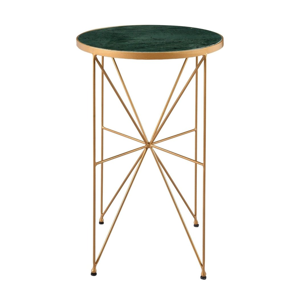 hadin powder gold marble top accent table side parker gwen chrome furniture legs home office desk ideas plant pedestal bedside tray victorian lamps small blue and white ginger jar