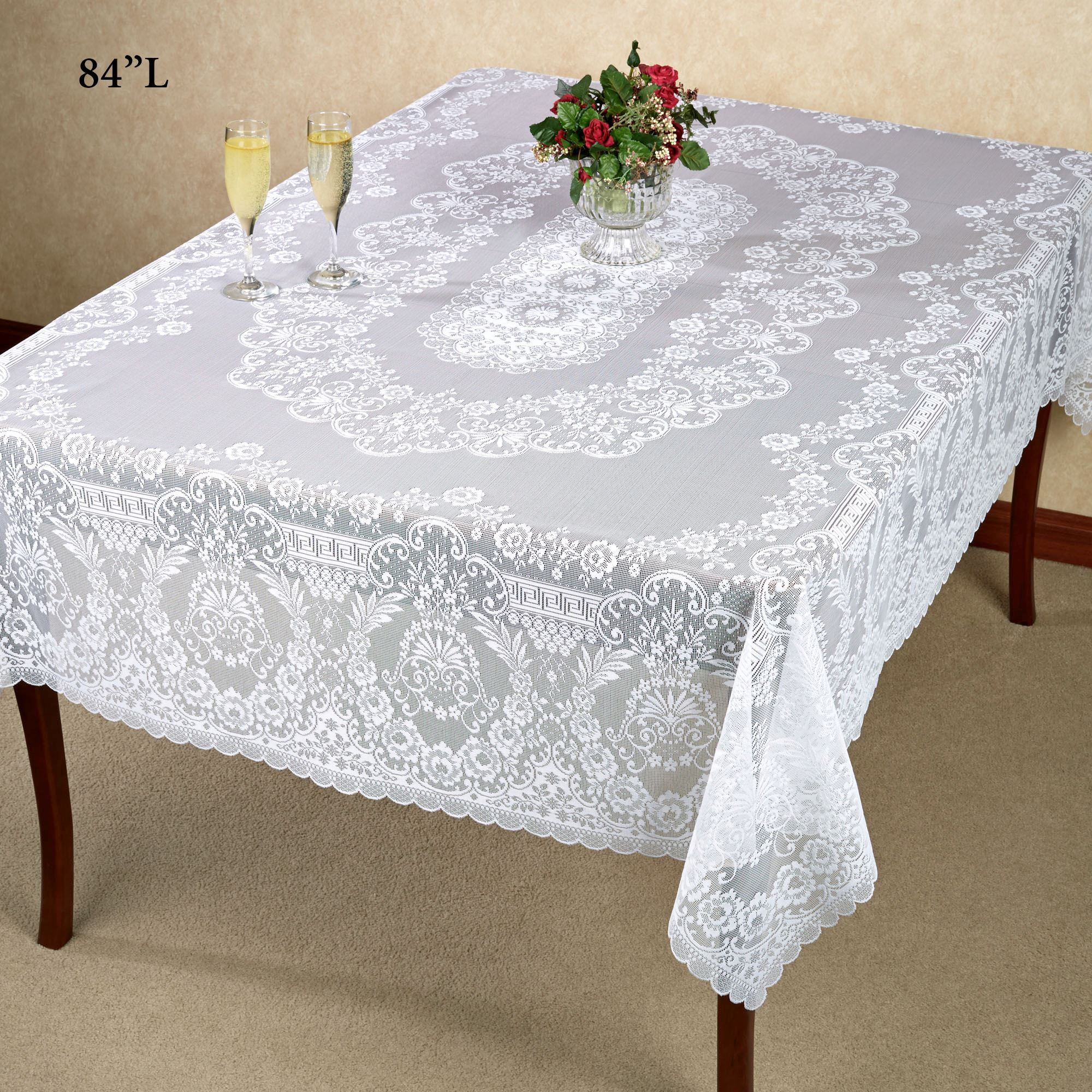 hadleigh white lace tablecloth round accent table cloths oblong long west elm top ikea storage solutions lamp shades for wall lights glass door cabinet pottery barn entryway