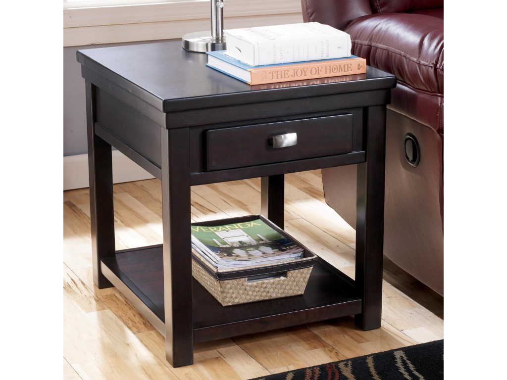 hadley rectangular end table with drawer shelf rotmans products signature design ashley color hatsuko accent hadleyrectangular west elm dresser unfinished side argos coffee