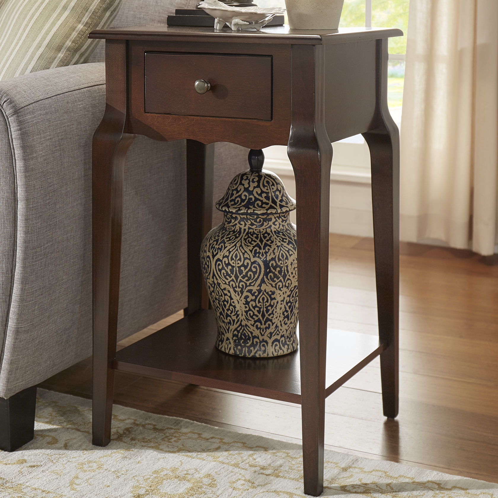 hague end table with storage reviews birch lane hadley accent drawer rolling tool cabinet blue oriental lamp small dining room furniture farmhouse set ashley pub modern gold