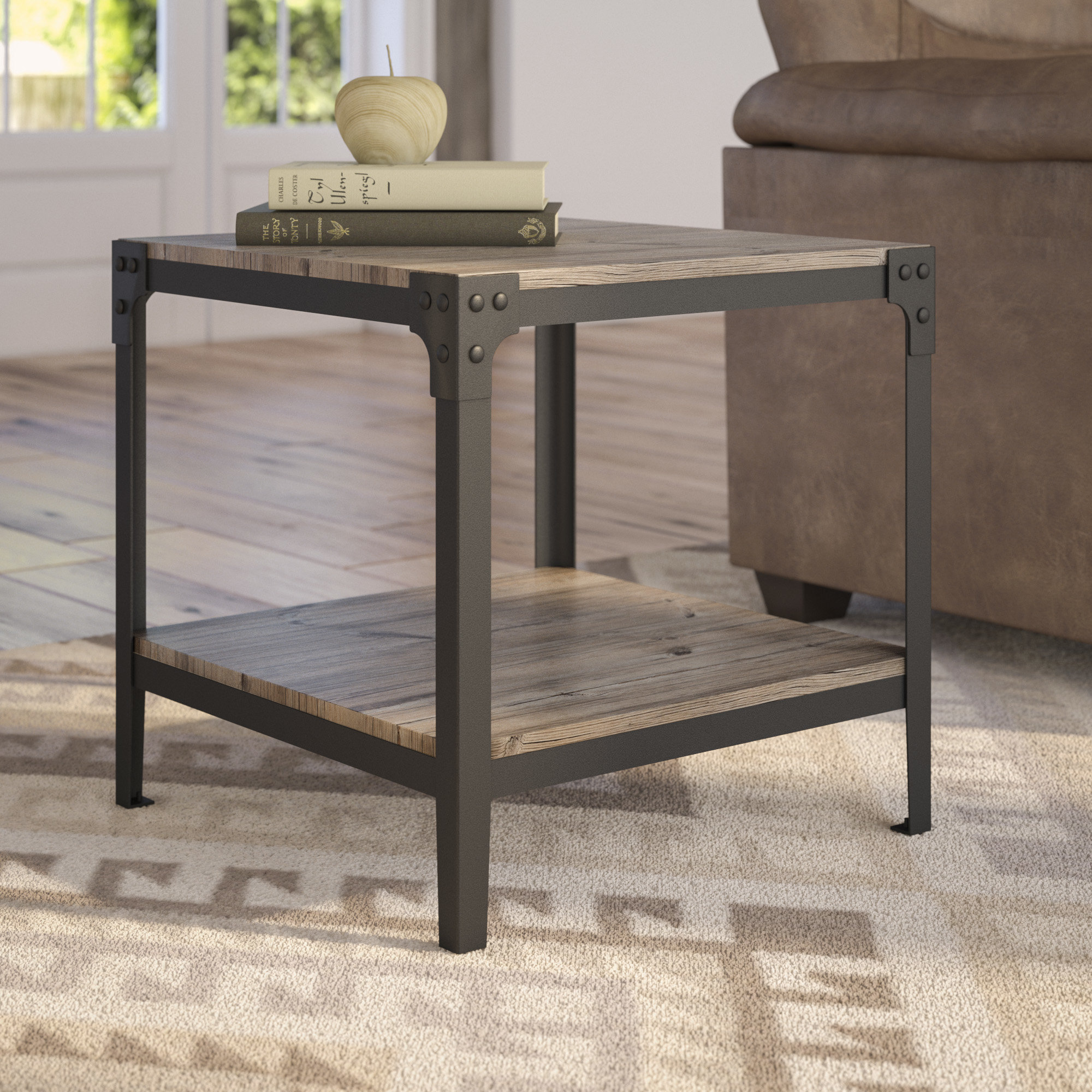 hairpin end table cainsville room essentials accent walnut quickview vanity west elm wall shelf outdoor bistro set metal kitchen usb port rustic nest tables dining pedestal base