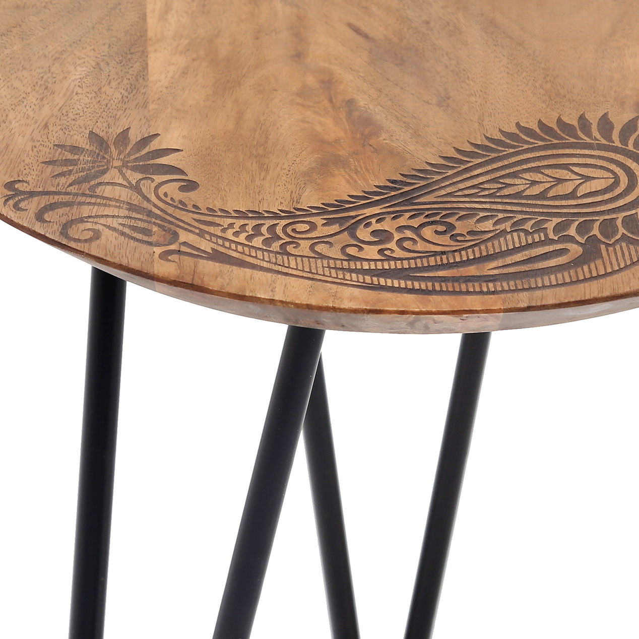 hairpin leg tbl home accent table decorative mirrors teak wood dining industrial look end tables antique circular fall round tablecloth colorful console ashley leather recliner