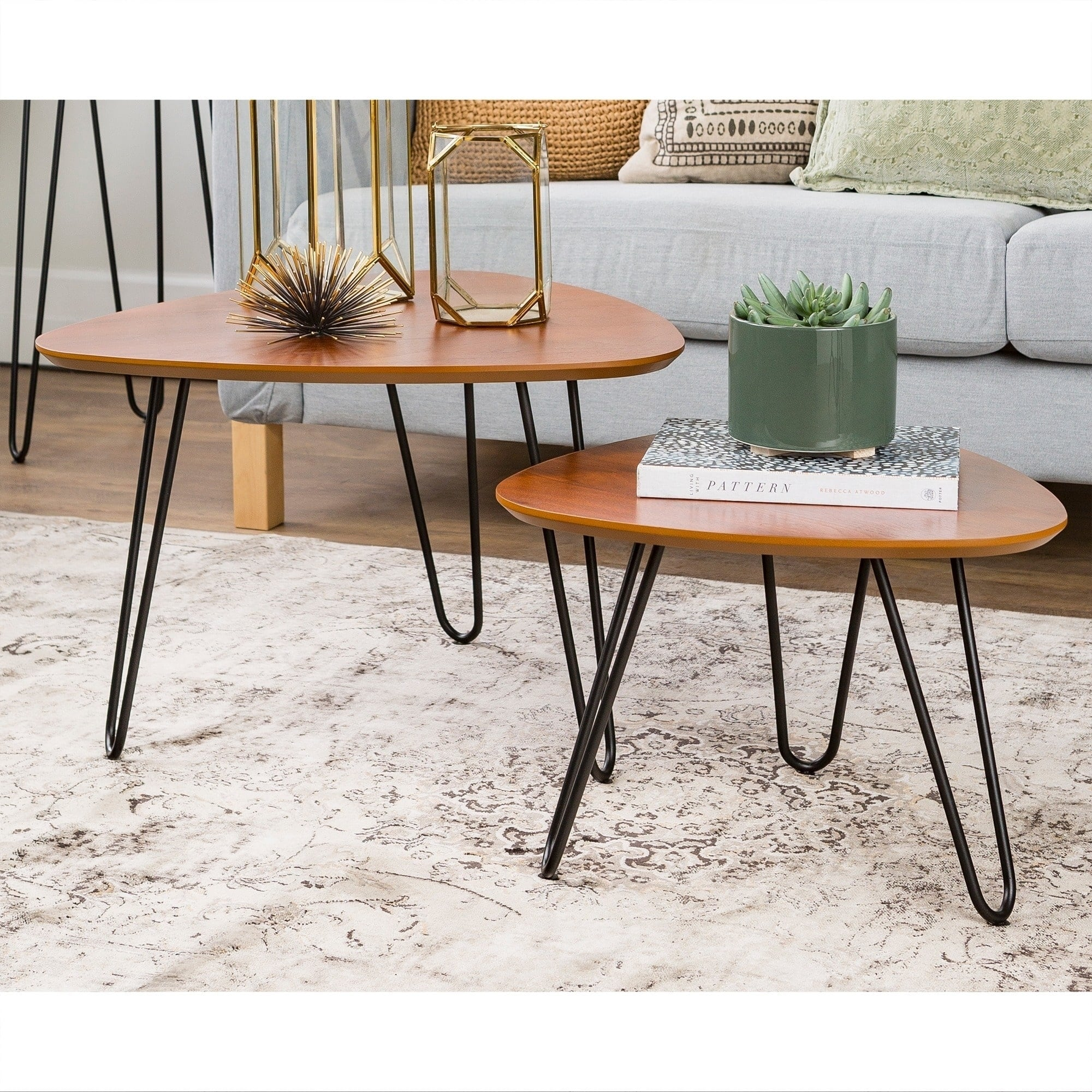 hairpin leg wood nesting coffee table set walnut free room essentials accent small counter lamps modern silver lamp thin cabinet jcpenney drapes metal kitchen house interior ideas