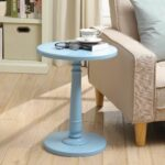 haley end table products light blue accent winsome wood cassie with glass top cappuccino finish navy chair ikea narrow rustic white console patio side umbrella hole outside 150x150