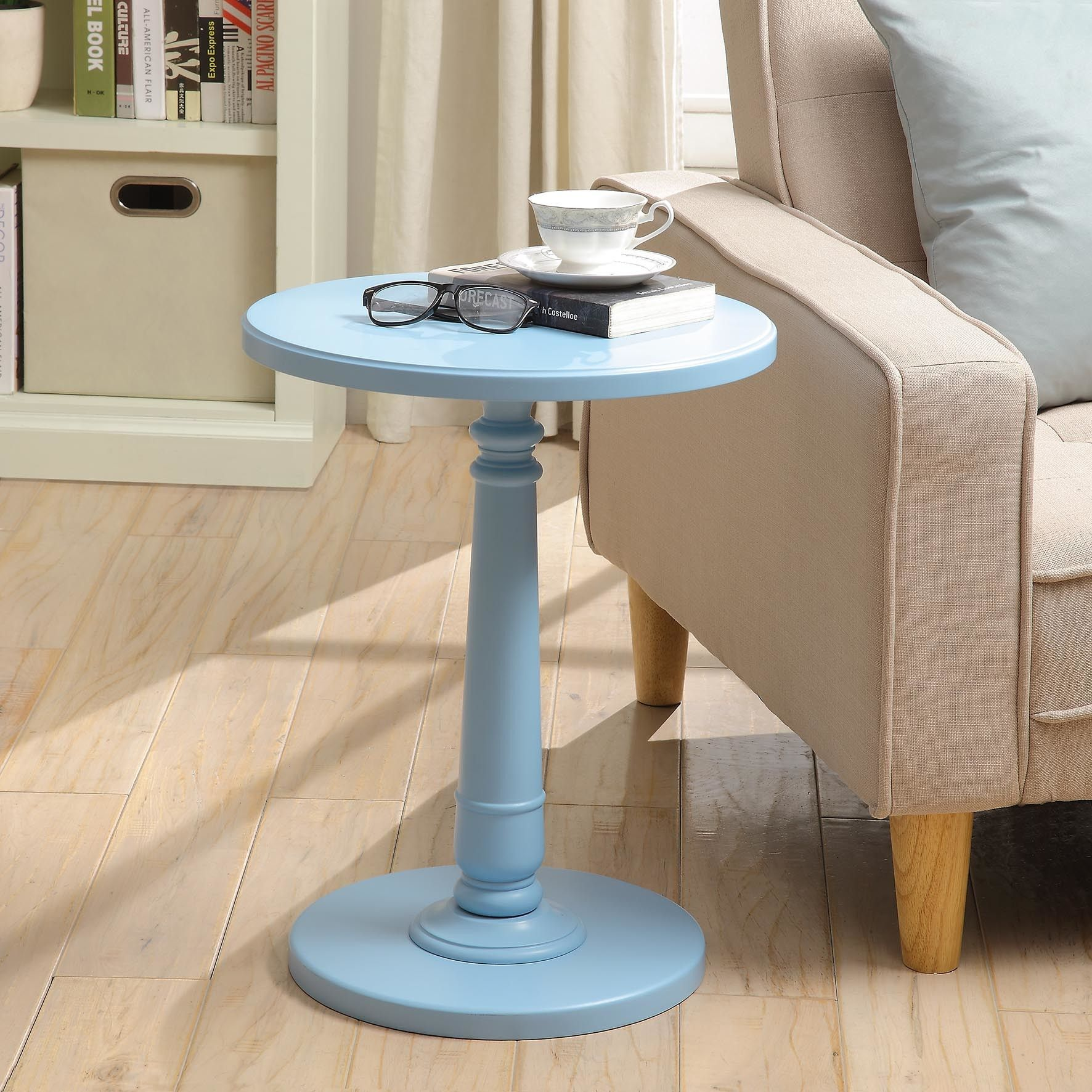 haley end table products light blue accent winsome wood cassie with glass top cappuccino finish navy chair ikea narrow rustic white console patio side umbrella hole outside