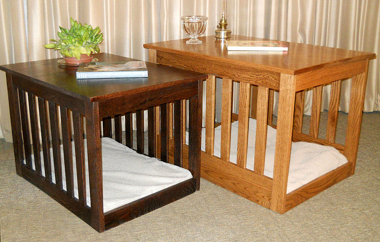 half circle accent table the terrific favorite nightstand pet console crate furniture dog crates that look like luxury custom kennels diy wooden indoor end modern build your own