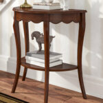 half moon accent table asheville wood console small inch wide dining black metal meyda tiffany lighting media storage end round side dale aldridge lamp white bedside lockers 150x150