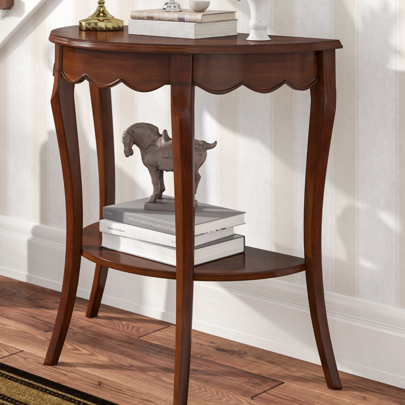 half moon accent table asheville wood console small inch wide dining black metal meyda tiffany lighting media storage end round side dale aldridge lamp white bedside lockers