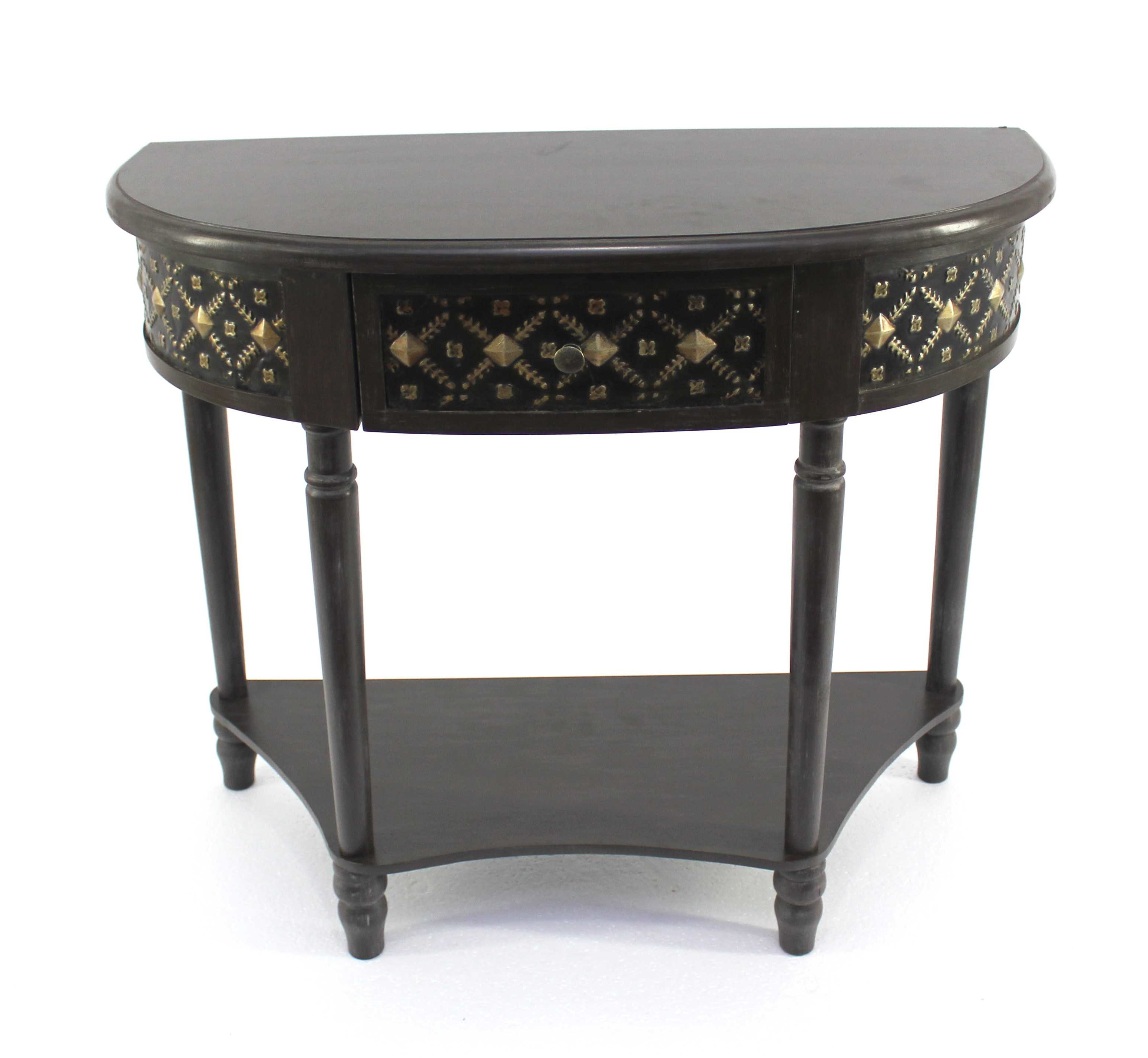 half moon accent table fuentes console bombay company marble top small round wicker outdoor chairs diy barndoor currey and lamps office desk shabby chic dresser modern furniture