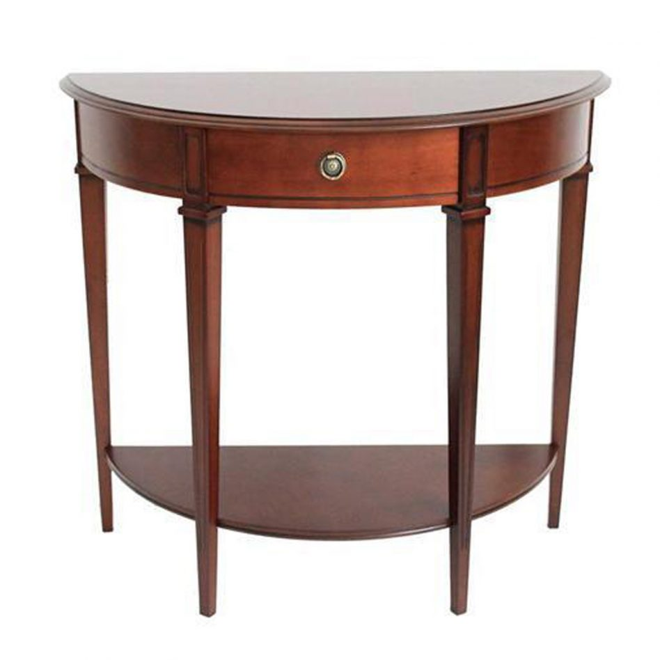 half moon accent table tables navy blue furniture semi circle coffee sofa end affordable sliding barn door console pottery couch victorian style and antique walnut small metal