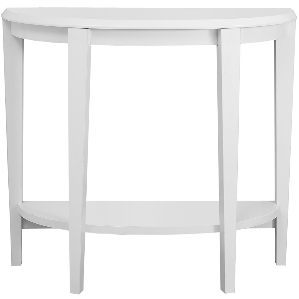 half moon accent table tables white telephone seat kitchen furniture zebra deck chairs bbq grills retro nest large modern coffee hooker end hobby lobby glass antique victorian