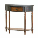 half moon accent table wyble wood console black metal dining legs small side tables for living room jofran end very large lamps meyda tiffany ceiling light round nesting antique 150x150