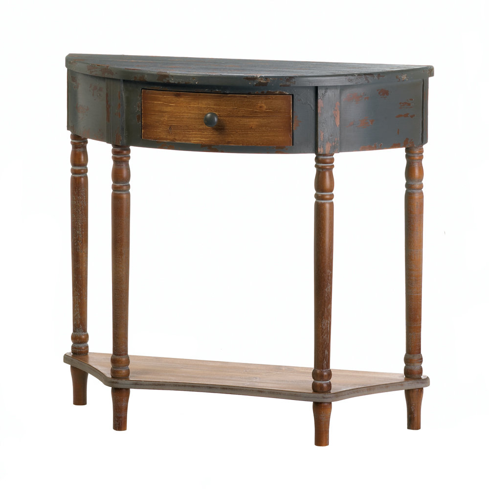 half moon accent table wyble wood console small destination lighting glass top dining deck furniture chinese ceramic lamp oval and metal coffee antique white bedside lockers
