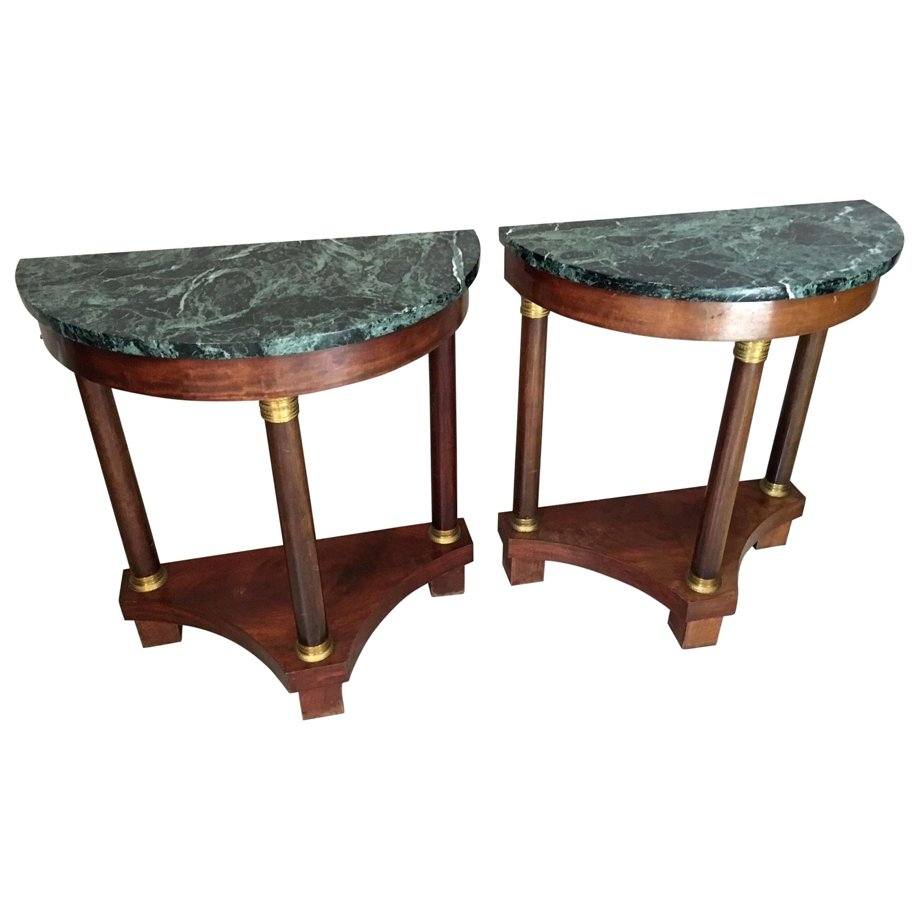 half moon console table ikea amazing with range melody tables drawers pair mahogany empire style for master accent international caravan carved wood full christmas cloth set small