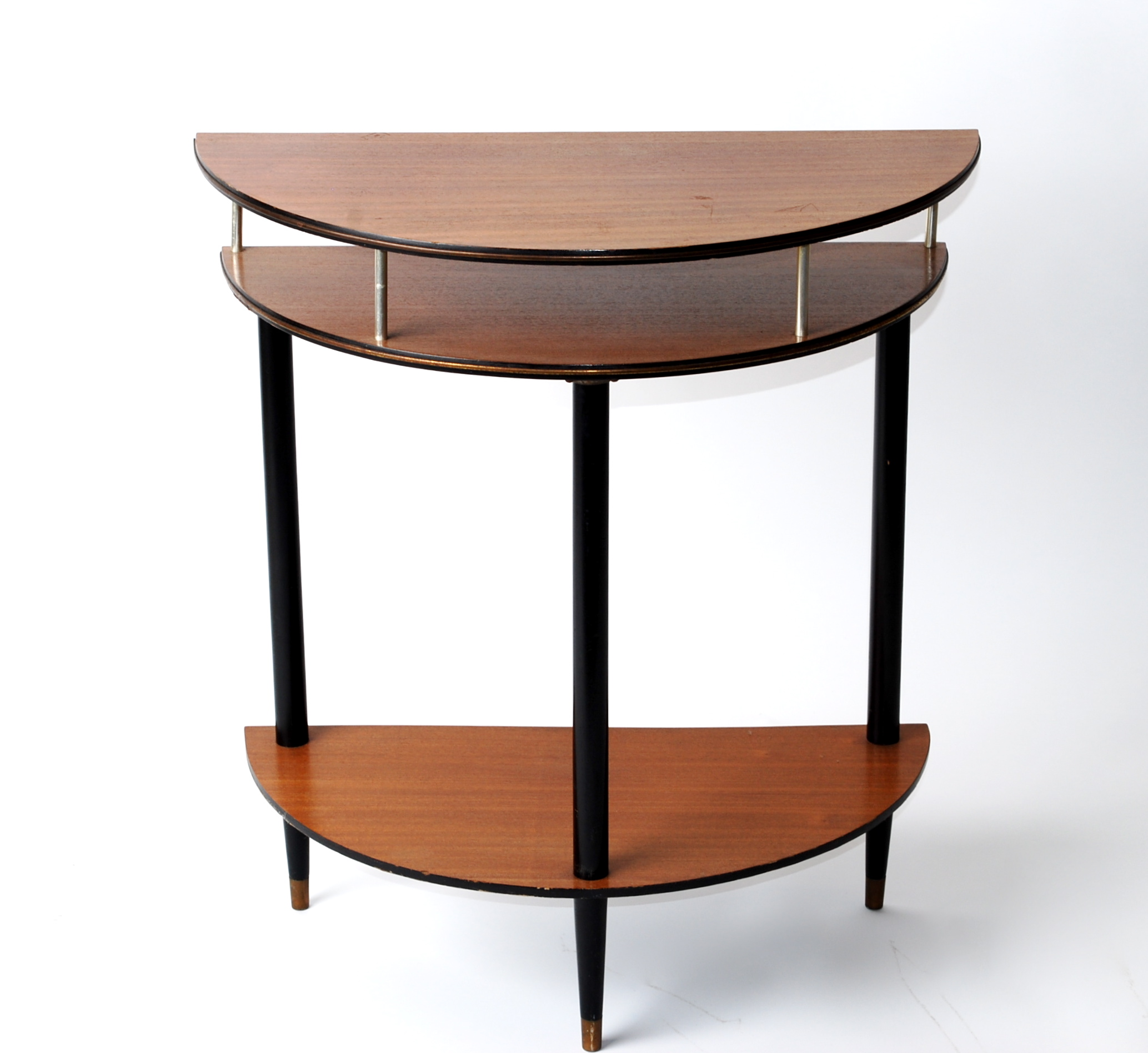 half moon end tables table furniture small slim accent oak destination lighting entryway with storage oval glass and metal coffee dale tiffany aldridge lamp vintage oriental lamps