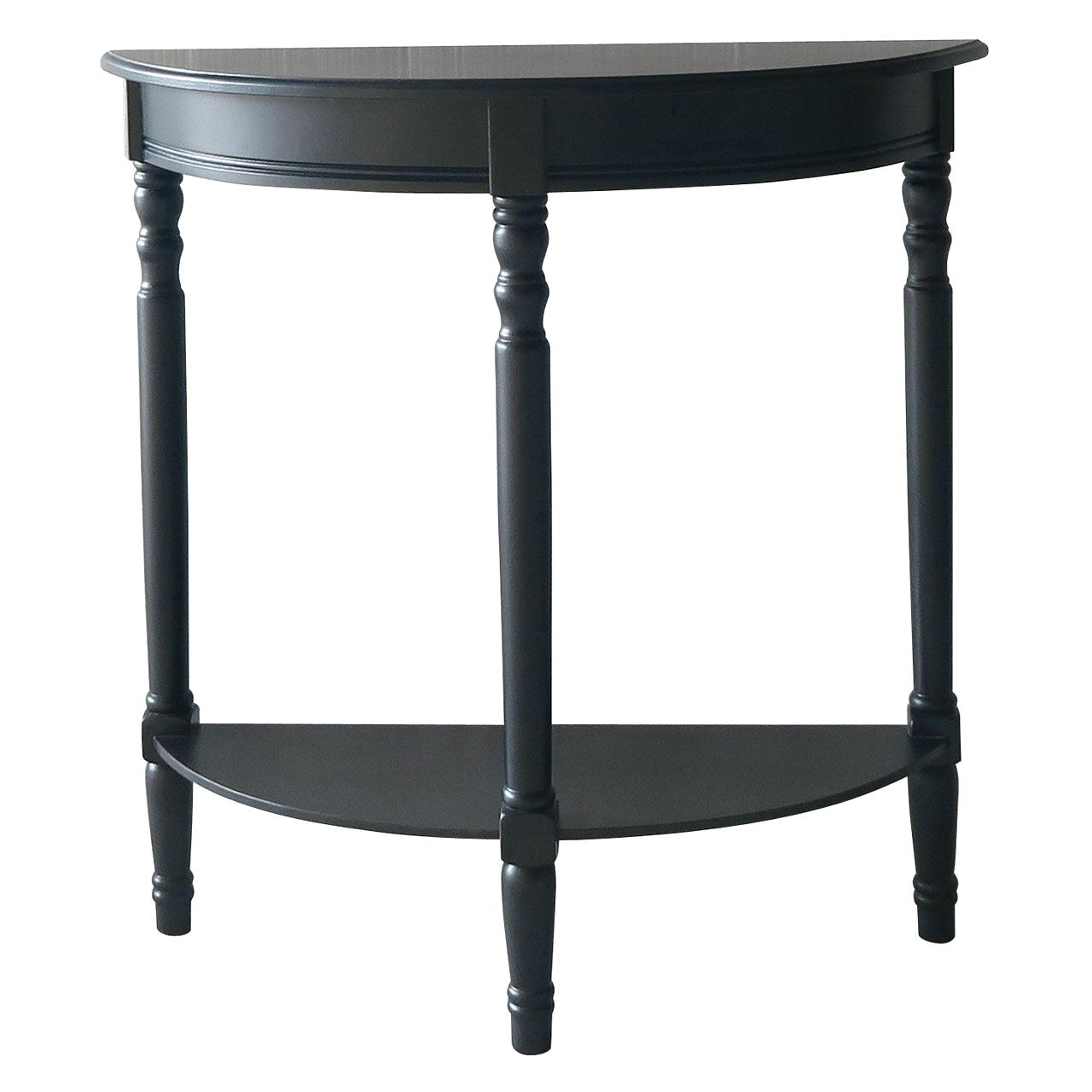 half moon hall tables black table with drawer brown wooden console heritage accent antique folding inch round decorator trendy lamps pier one nesting red and white patio umbrella