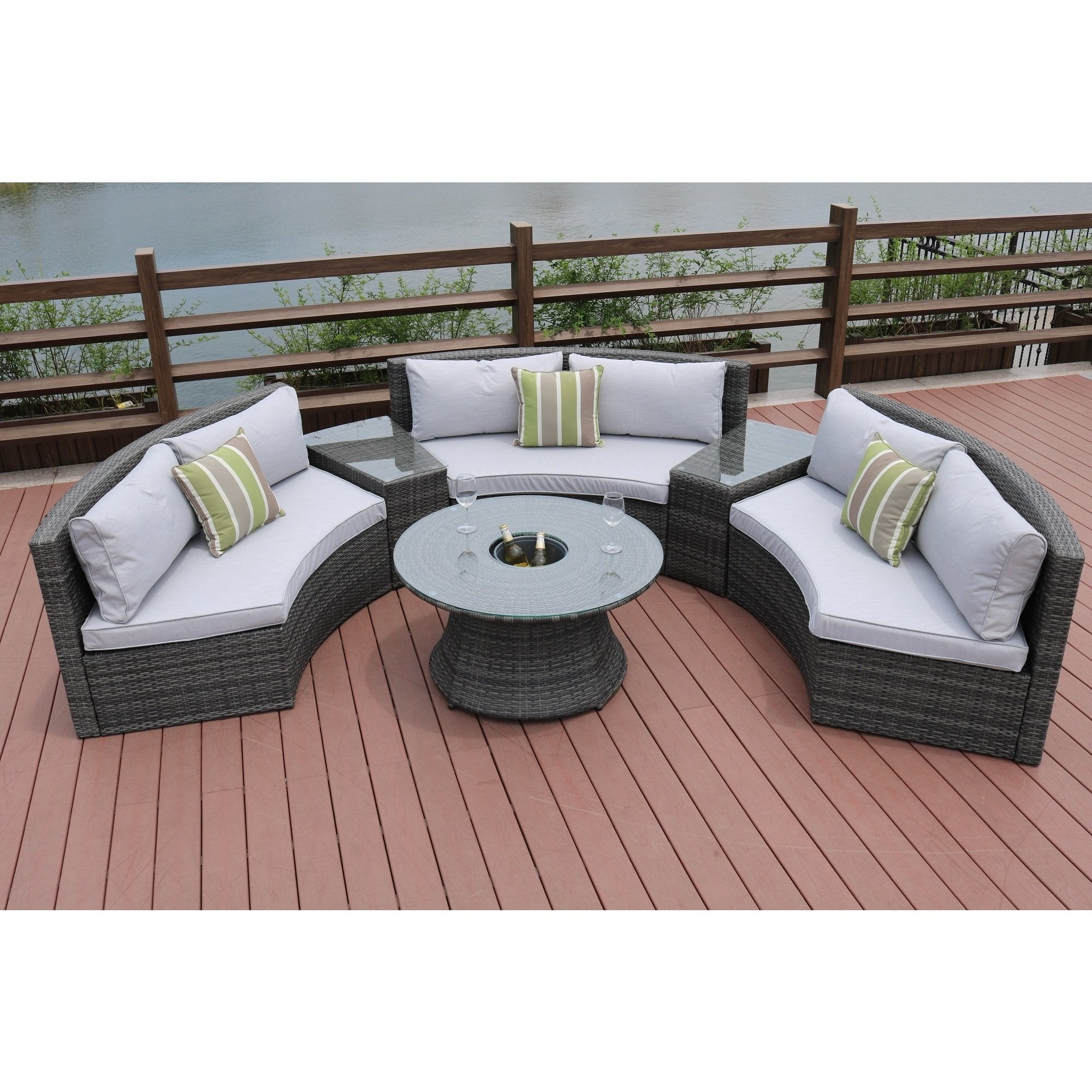 half moon piece outdoor curved sectional sofa with side table set direct wicker ave six fabric chair and accent free shipping today patio modern style furniture kitchen dining